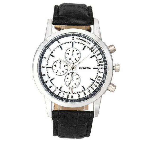 Мъжки бизнес часовник Geneva - черен