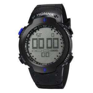 Спортен водоустойчив часовник - черен