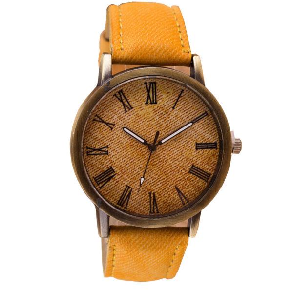 Стилен мъжки часовник - оранжев