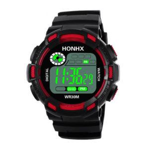 Мъжки електронен спортен часовник - червен