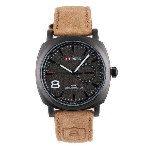 Стилън мъжки часовник - кафяв
