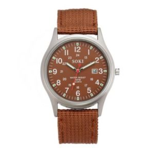 Мъжки военен часовник - бежево