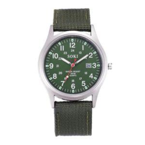 Мъжки военен часовник - зелен