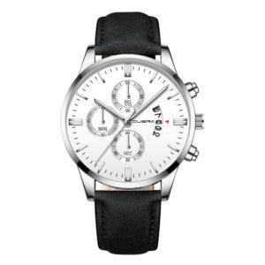 Елегантен мъжки спортен часовник – черен/бял
