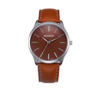 Луксозен мъжки часовник - кафяв