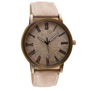 Стилен мъжки часовник - бежов