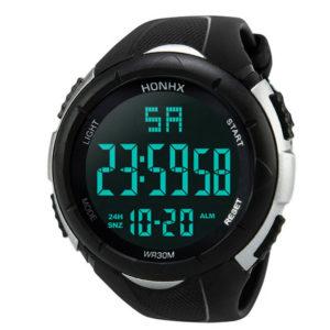Спортен мъжки водоустойчив часовник - черен