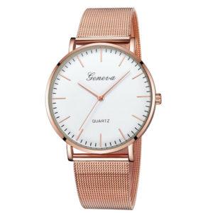 Луксозен дамски часовник Geneva - розово злато