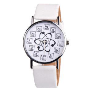 Елегантен унисекс часовник Хихмия - бял