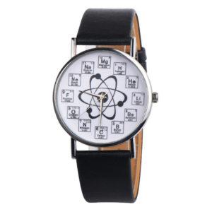 Елегантен унисекс часовник Хихмия - черен