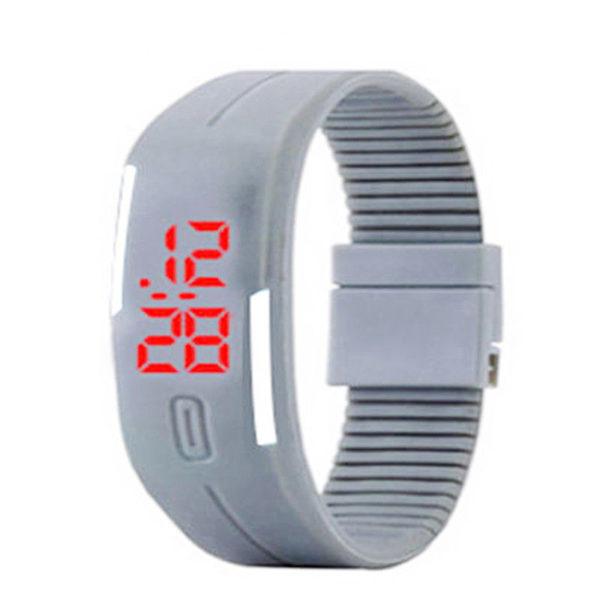 Спортен силиконов LED часовник - сив